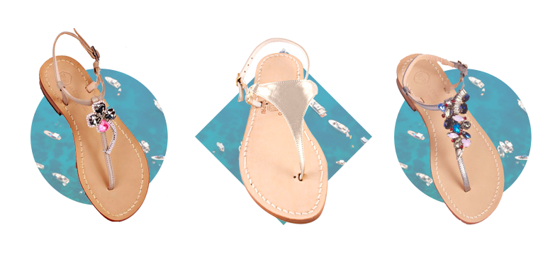 Luxury to wear with the precious Made in Capri sandals with jewels