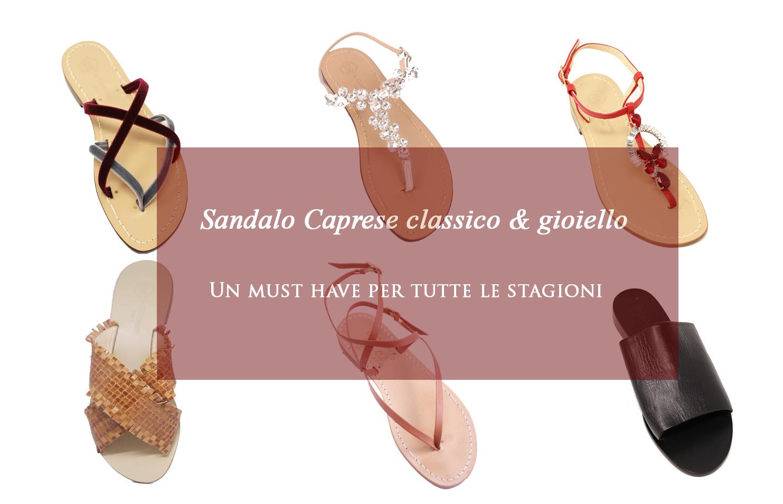 Il sandalo caprese classico e gioiello , un must have per tutte le stagioni!